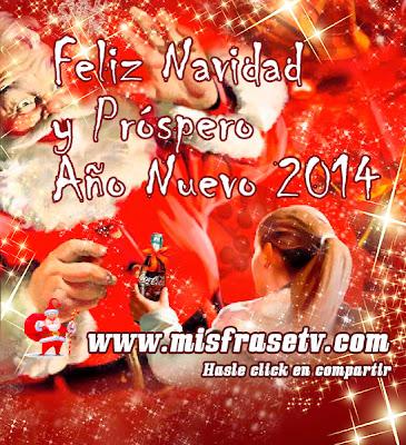 Imágenes con frases de navidad y prospero año nuevo 2014