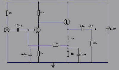 pre amp condenser microphone circuit electronic schematic circuit rh circuits diagrams blogspot com