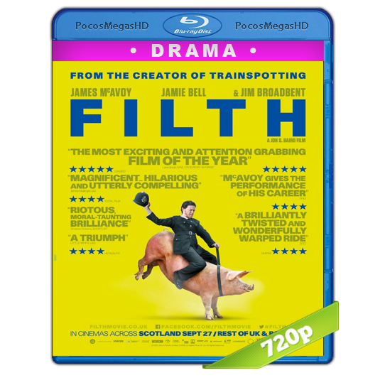 Filth (2013) BrRip 720p Inglés AC3+subs