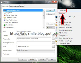 Buka open ++.exe atau klik kanan - Open++ - Cutomize ++