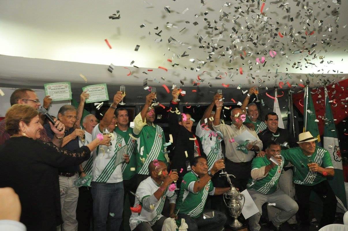 A festa dos campeões da Taça de Prata de 1985