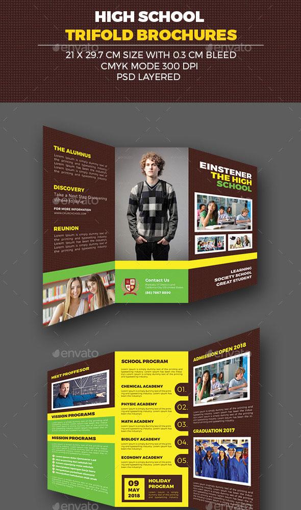 5 desain brosur sekolah inspirasi v 1 for High school brochure template