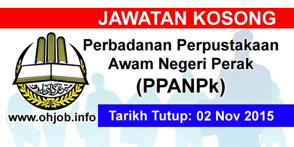 Jawatan Kerja Kosong Perbadanan Perpustakaan Awam Negeri Perak (PPANPk) logo www.ohjob.info november 2015