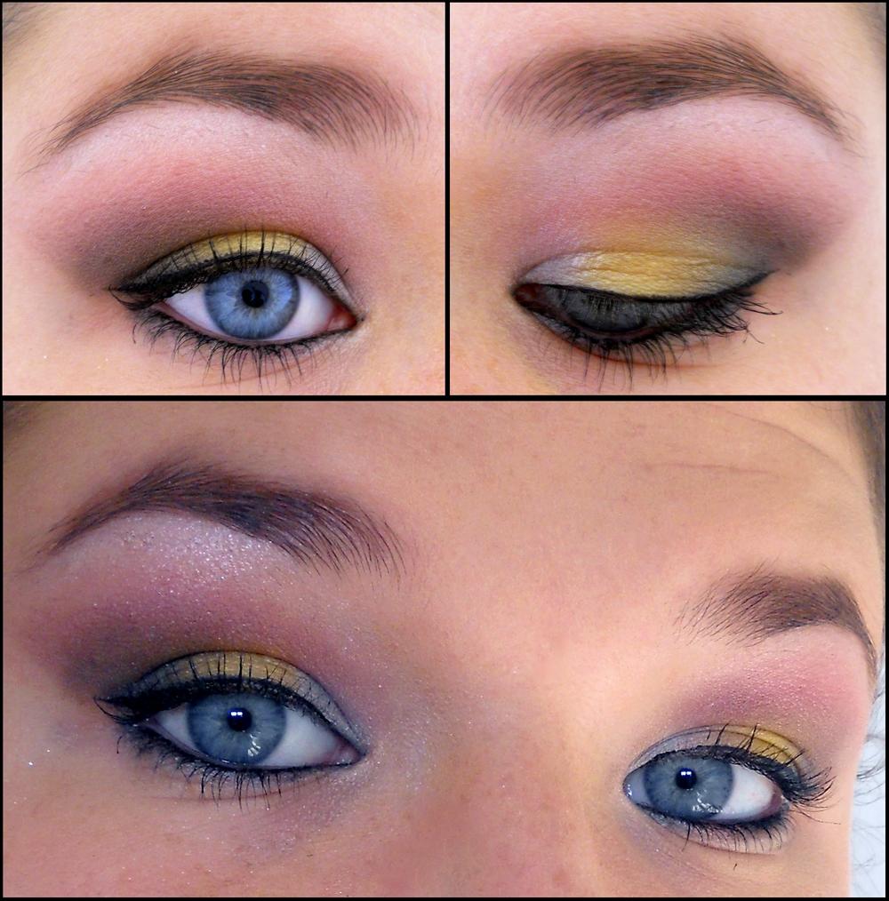 maquillage artistique plutt color fard blanc dans le coin externe estomper avec du jaune au milieu de la paupire mobile puis galement estomper avec du - Colori Maquillage