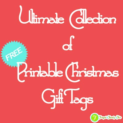 Ultimate collection of free printable christmas gift tags frugal ultimate collection of free printable christmas gift tags negle Image collections