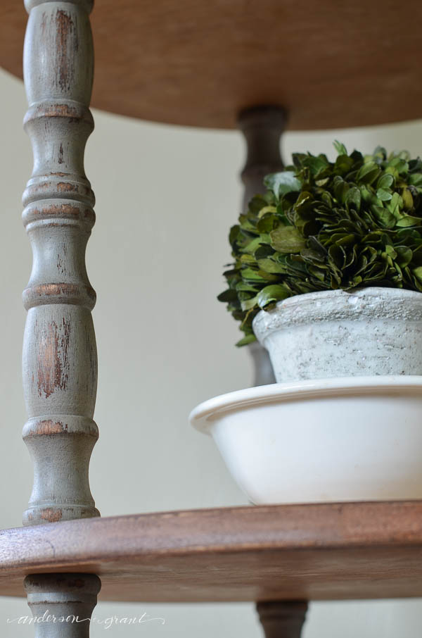 Displaying a boxwood topiary in an ironstone bowl | www.andersonandgrant.com