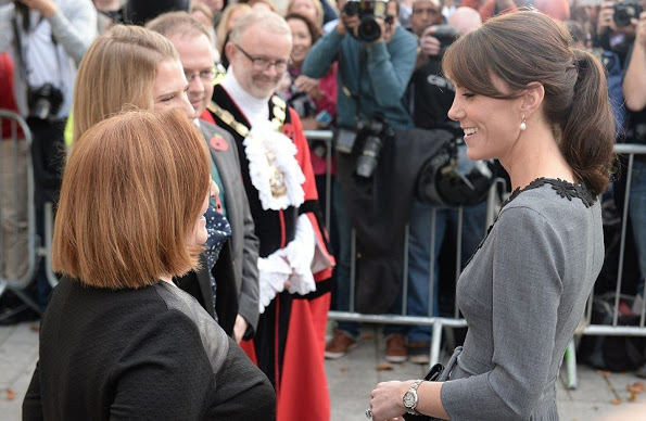 Catherine, Duchess Of Cambridge At Islington Town Hall