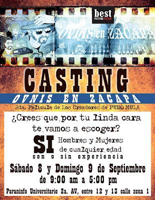 Se buscan actores (con o sin experiencia) para la nueva película de los creacores de PURO MULA: sábado 8 y domingo 9 de septiembre, de 9 a 17. Paraninfo universitario