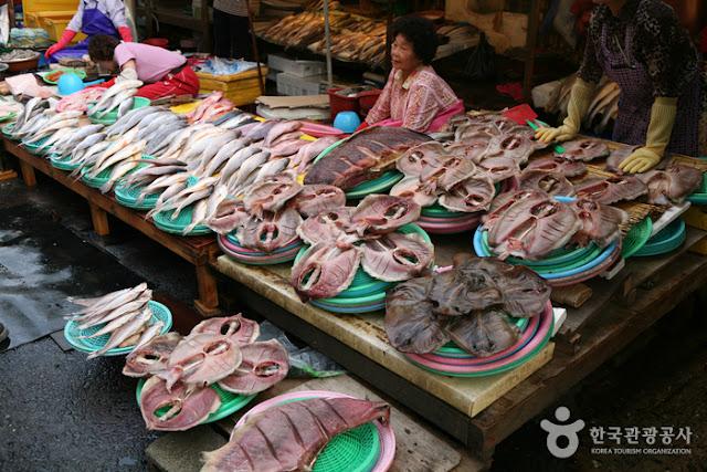 Khu chợ cá Jagalchi Busan