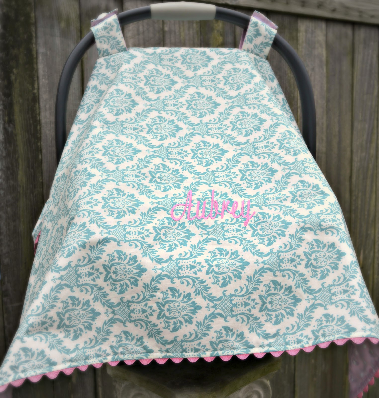 Carseat Canopy Tutorial & The Domestic Doozie: Carseat Canopy Tutorial