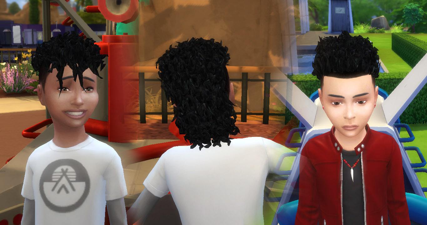 My Sims 4 Blog Brillit Boy Curls Conversion For Boy By