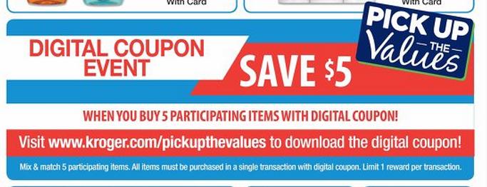 Pick and save digital coupons