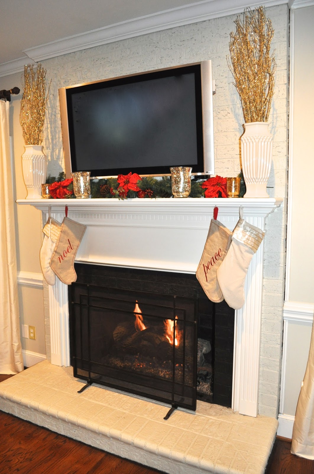 the collected interior our christmas mantle before and after