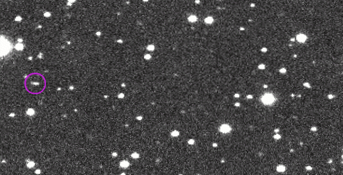 Asteroid 2014 AA, discovered by the NASA-sponsored Catalina Sky Survey on Jan. 1, 2014, moves across the sky. Image Credit: CSS/LPL/UA