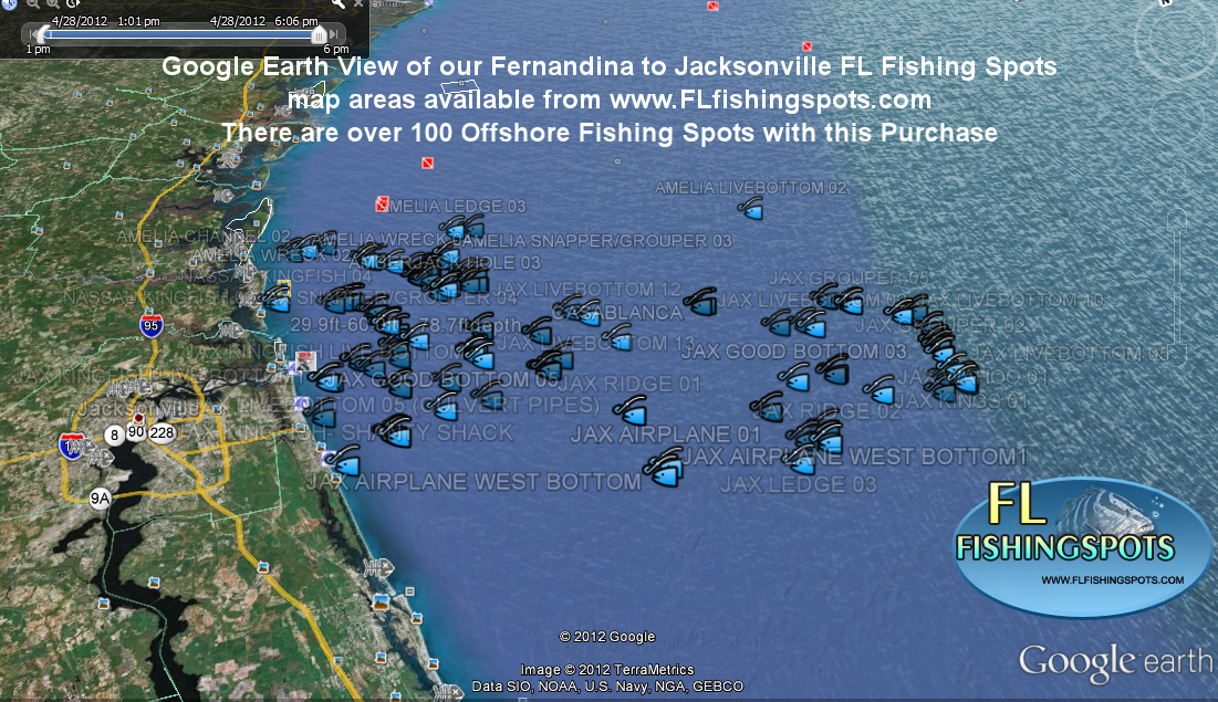 ga and fl fishing maps using google earth ga fishing maps