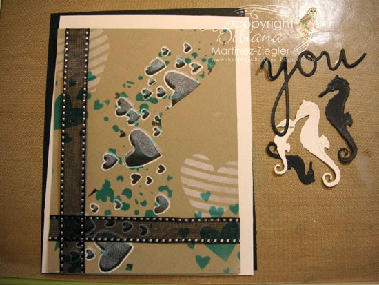masculine card with stencils step three