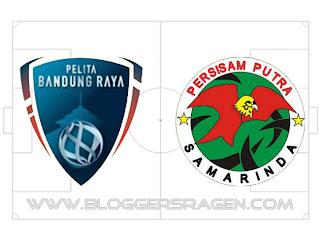Pertandingan Pelita Bandung Raya vs Persisam Putra Samarinda
