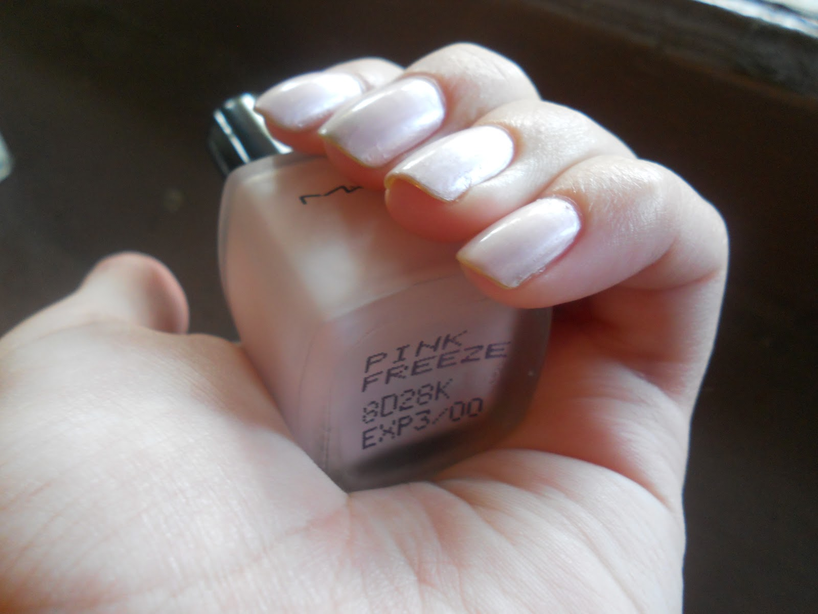 The Nail Polish Rehab Candidate: The Vintage Gem: MAC- Pink Freeze