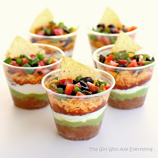 Taco Dip in a Cup