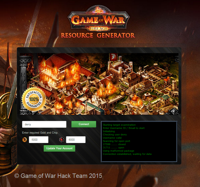 Game of War Fire Age Cheats Unlimited Gold Chip