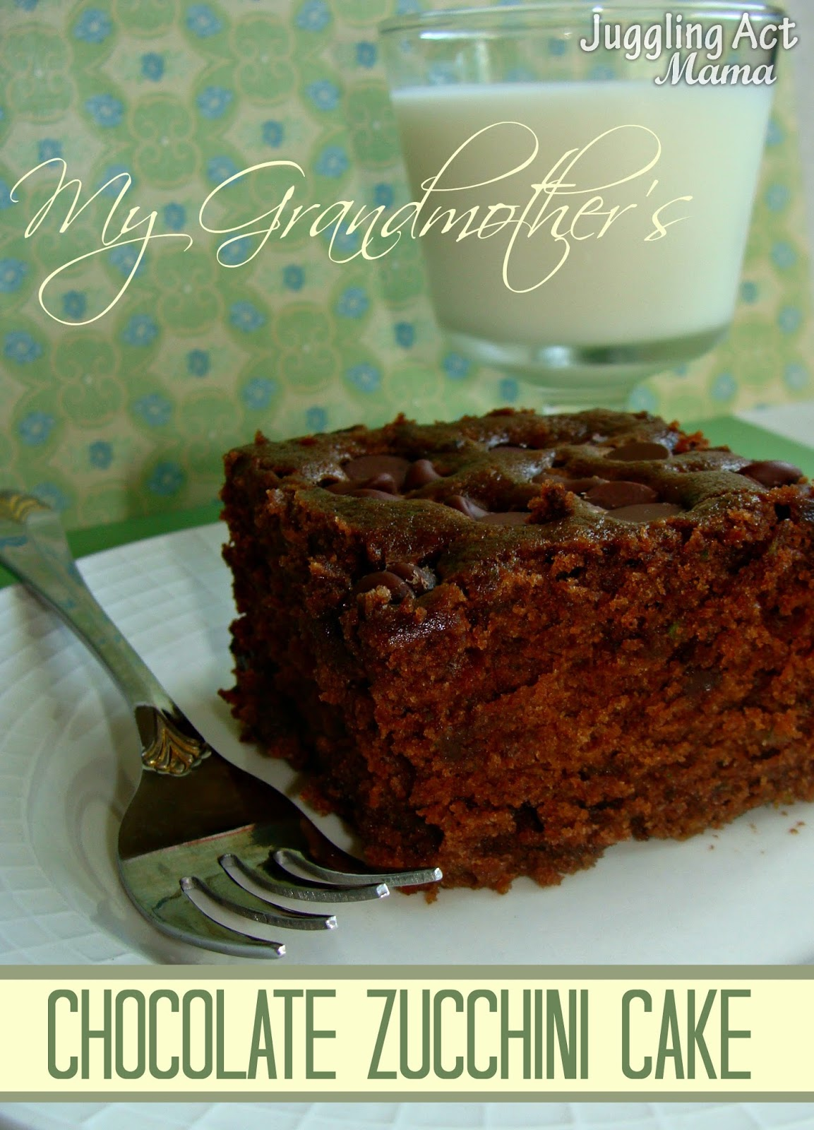 This amazing recipe for Chocolate Zucchini Cake is passed down from my ...