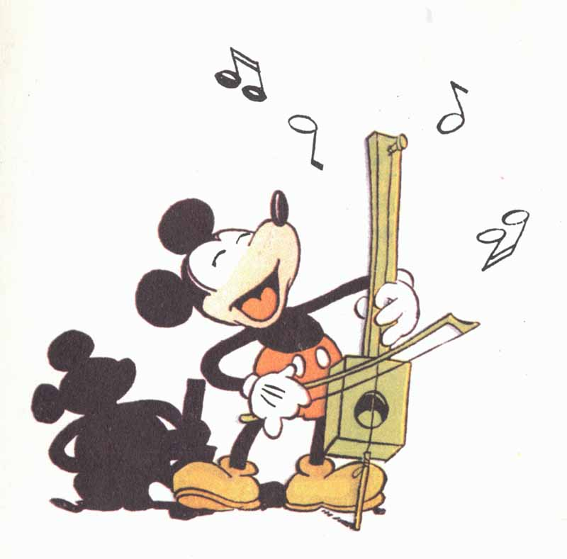 Mickey Mouse demonstrates the great history of Disney music