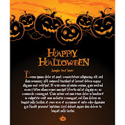 35. Happy halloween template with evil pumpkins Free Vector