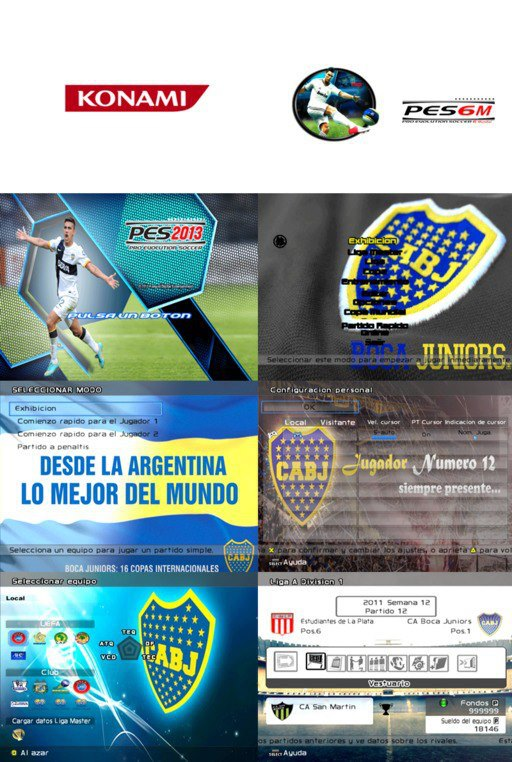 Text Club Argentino Boca Juniors Para Pes 6