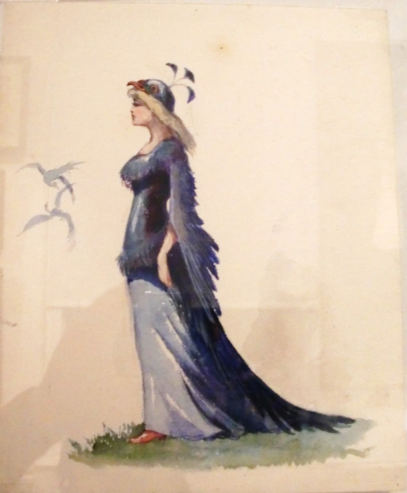 Russian Bird Woman Bird Woman Costume Sketch by