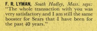 sears house testimonial f r lyman south hadley mass