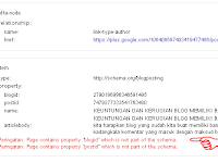 Page contains property blogid which is not part of the schema