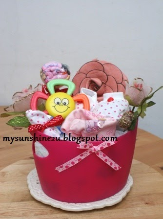 Mysunshine creative gift shop baby diaper bouquet for for Pink diaper bouquet