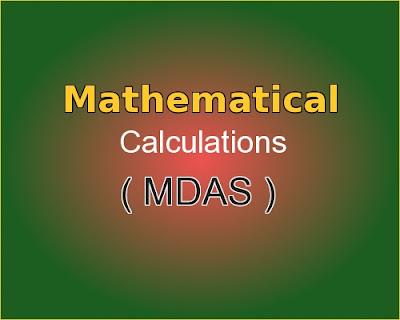 C++ program for Mathematical calculations (MDAS)