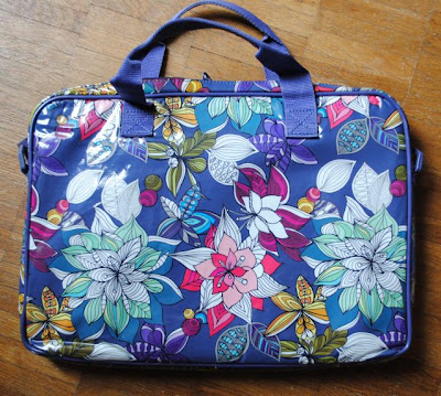purple floral Paperchase laptop bag