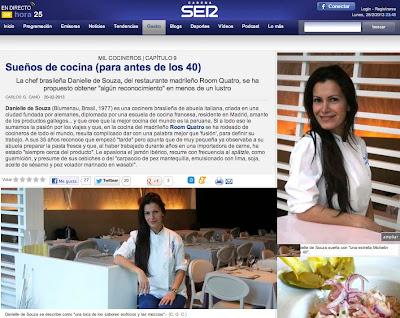 Danielle Souza en Gastro de la Cadena Ser
