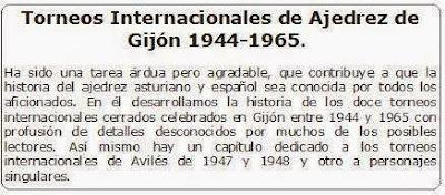 Libro Torneos Internacionales de Ajedrez de Gijón (1944-1965), comentario de los editores