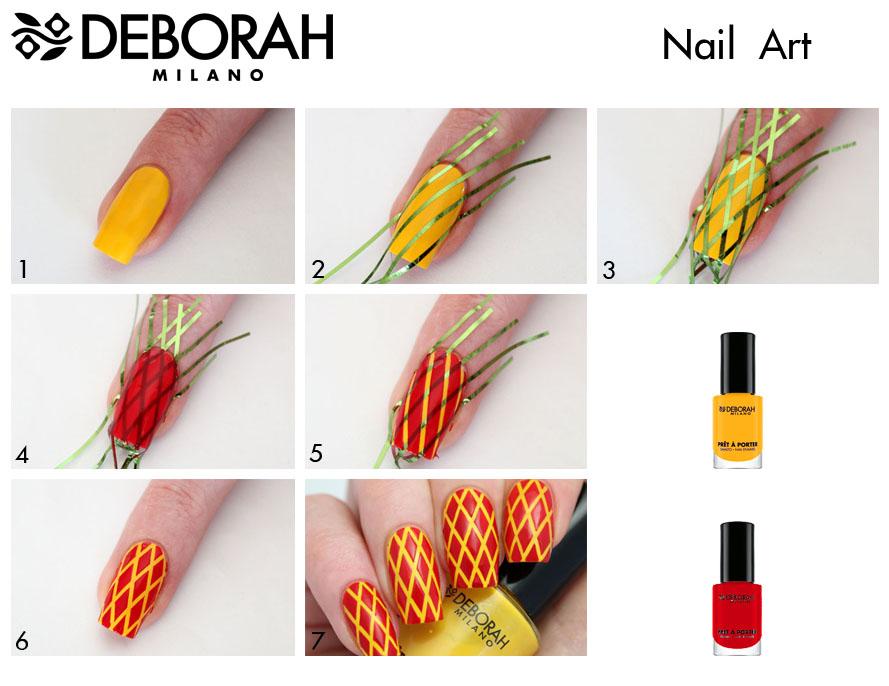 Nail Art Ideas- Diamond Pattern Nails | Deborah Milano