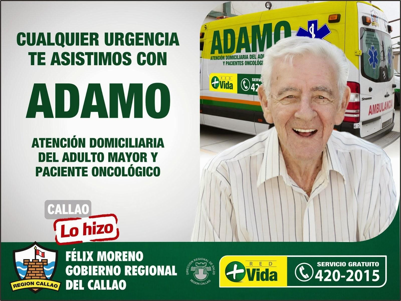 """CUALQUIER URGENCIA TE ASISTIMOS CON """"ADAMO"""""""