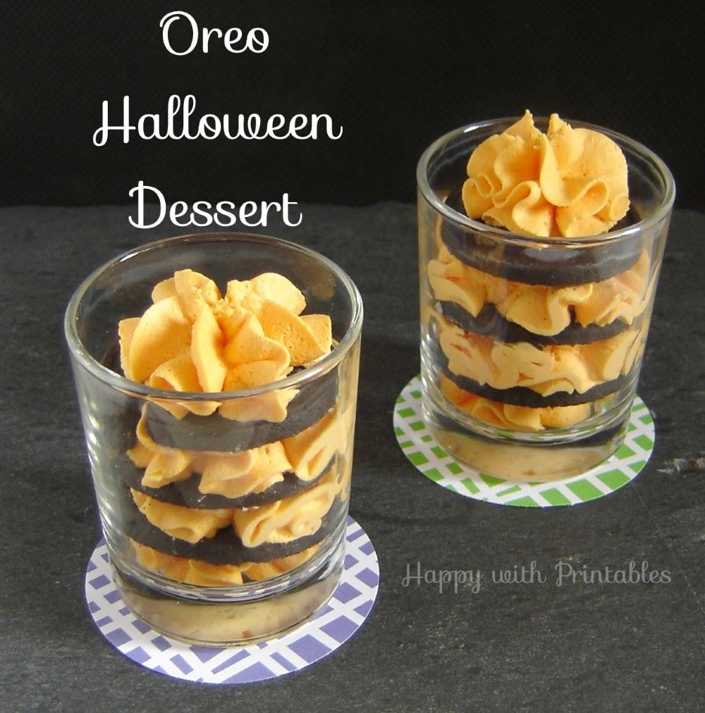 Halloween party, cute Halloween, Halloween dessert, oreo dessert, happy halloween