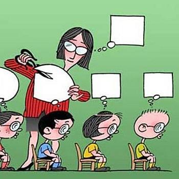 lekcja, szkoła, myśli, nauczyciel