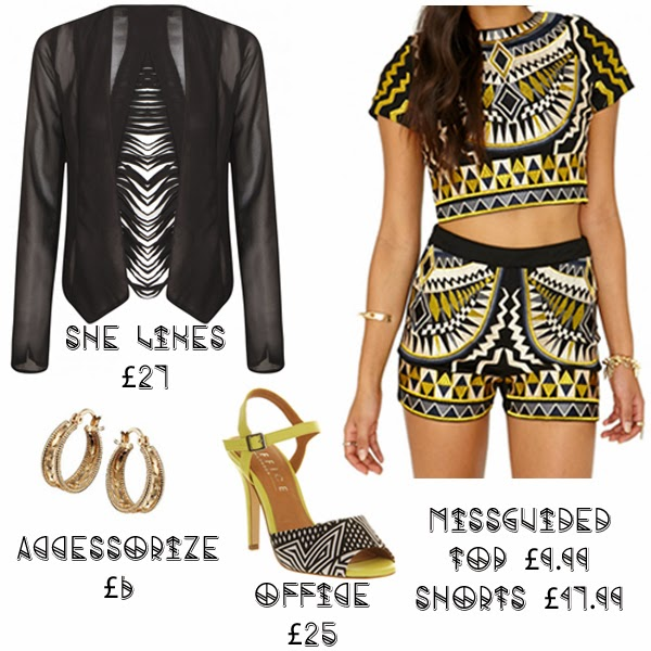 Steal Her Style Solange Knowles what she wore get the look she likes missguided accessorize office shoes aztec print