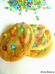 Chocolate Rainbow drop cookies