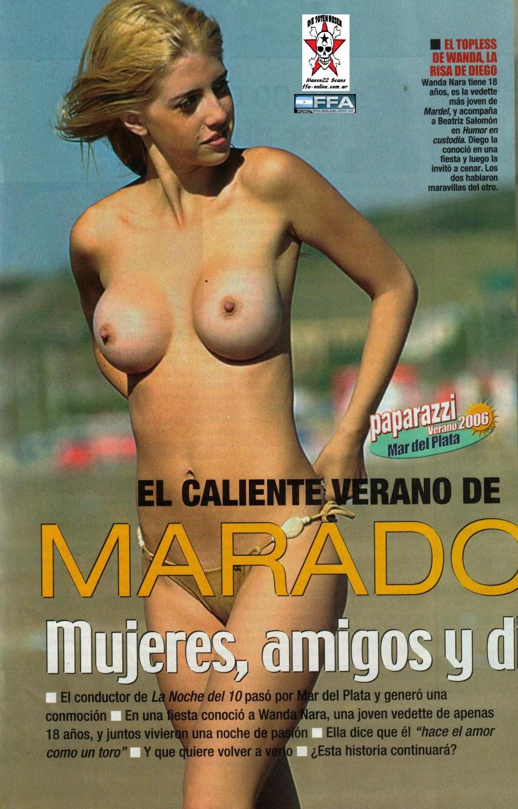 Wanda Nara Haciendo Topless En La Playa Imagenes Hq