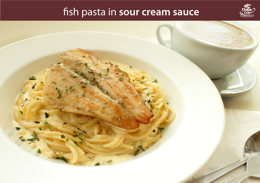 Chillacup blog january 2012 for Creamy sauce served with fish
