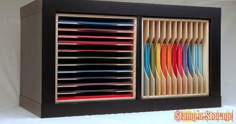 Crafty storage expedit kallax inserts by stamp n storage for Ikea paper storage