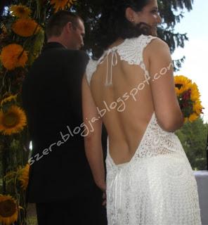 Horgolt Menyasszonyi ruhám - My crochet wedding dress