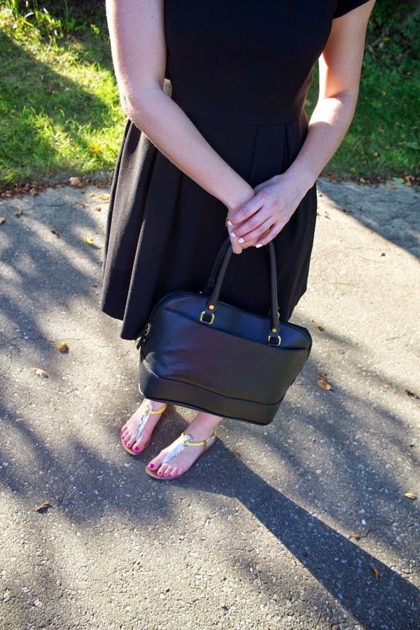 Zara dress, little black dress, all black