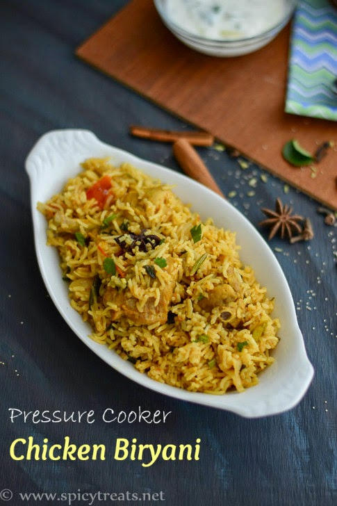 Pressure Cooker Chicken Biryani