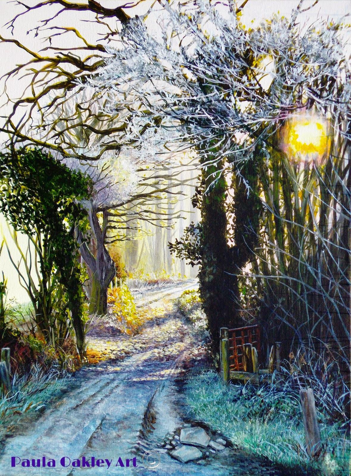 ORIGINAL ART By Paula Oakley Sussex Paintings For Sale