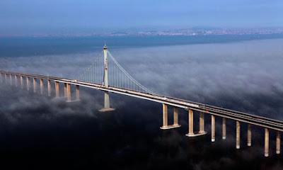 Shandong+Highway jambatan+terpanjang+dunia billyinfo2 Jambatan Terpanjang Di Dunia Kini Di China